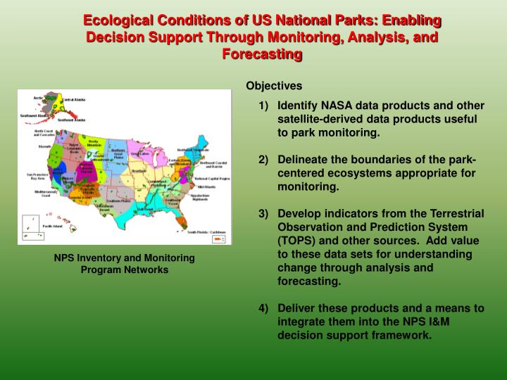 Ecological Conditions of US National Parks: Enabling Decision Support Through Monitoring, Analysis, and Forecasting