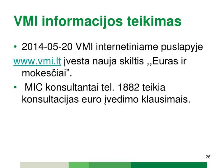 VMI informacijos teikimas