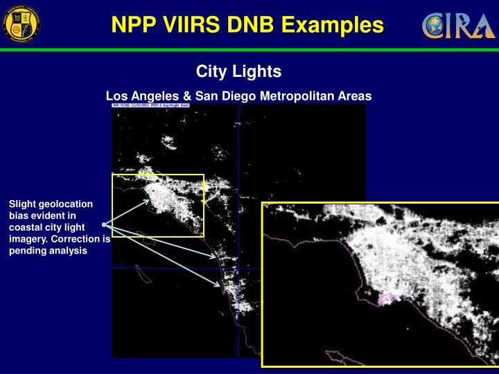NPP VIIRS DNB Examples