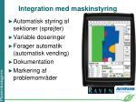 integration med maskinstyring