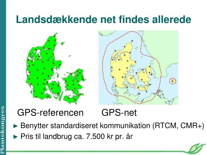 Benytter standardiseret kommunikation (RTCM, CMR+)