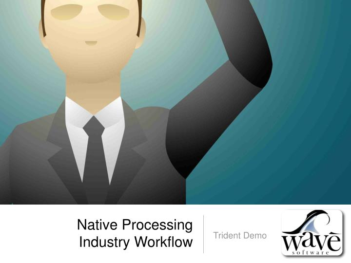 Native Processing Industry Workflow