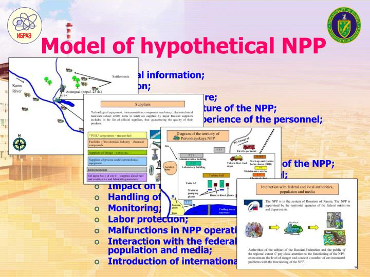 Model of hypothetical NPP