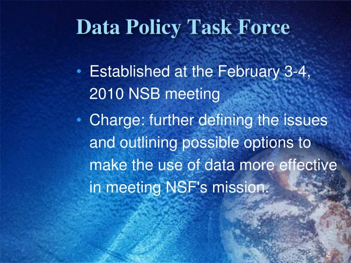 Data policy task force