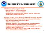 background discussion