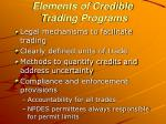 elements of credible trading programs