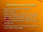 epa role and oversight