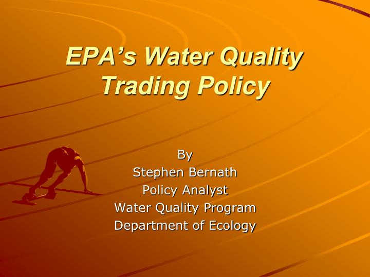 epa s water quality trading policy