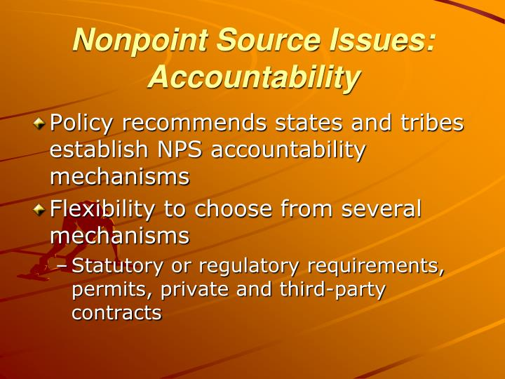 Nonpoint Source Issues: