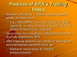 purpose of epa s trading policy
