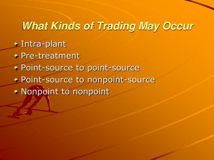 What Kinds of Trading May Occur