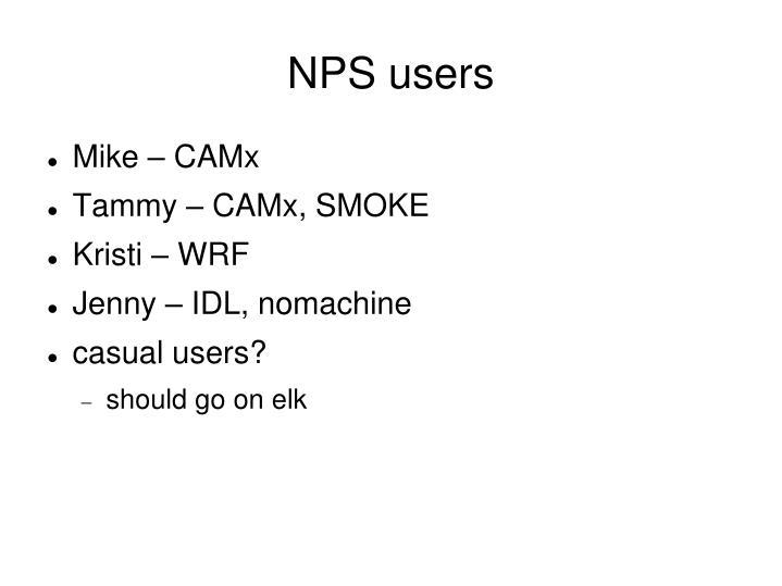NPS users