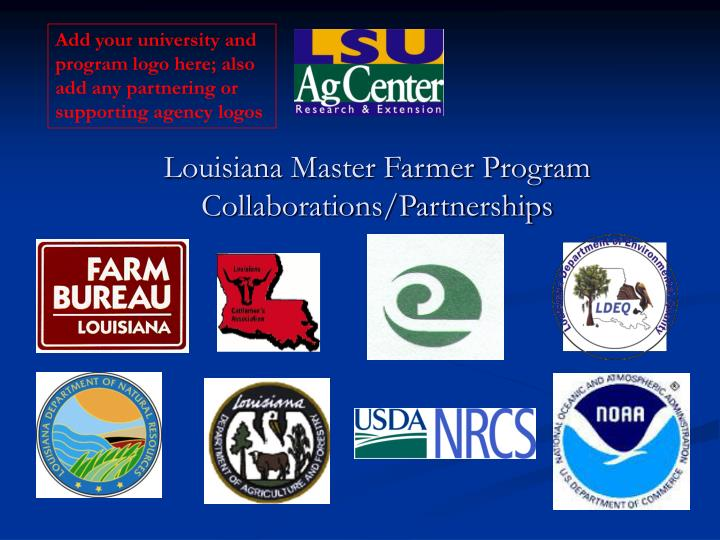 Add your university and program logo here; also add any partnering or supporting agency logos