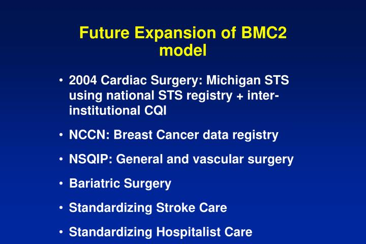 Future Expansion of BMC2 model