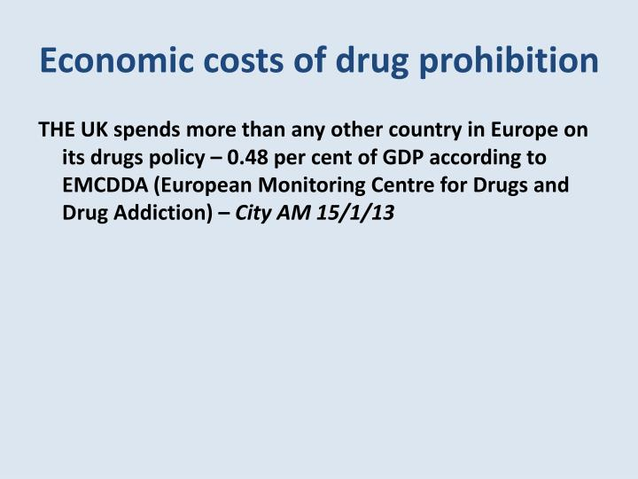 Economic costs of drug prohibition