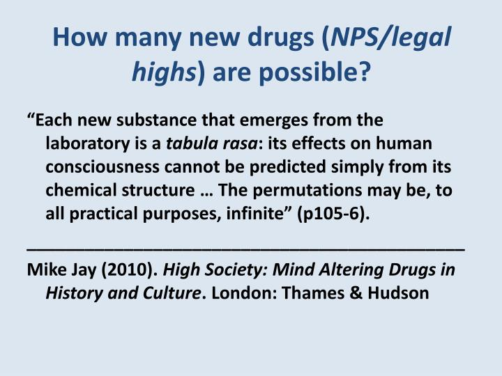 How many new drugs (