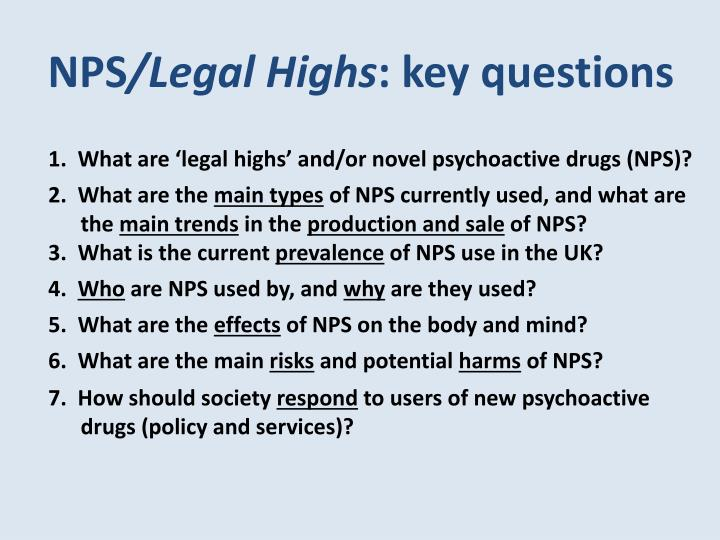 Nps legal highs key questions