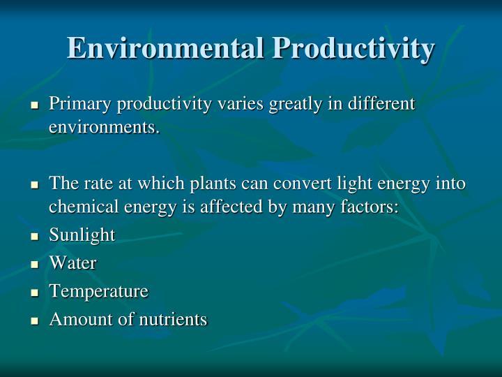 Environmental Productivity