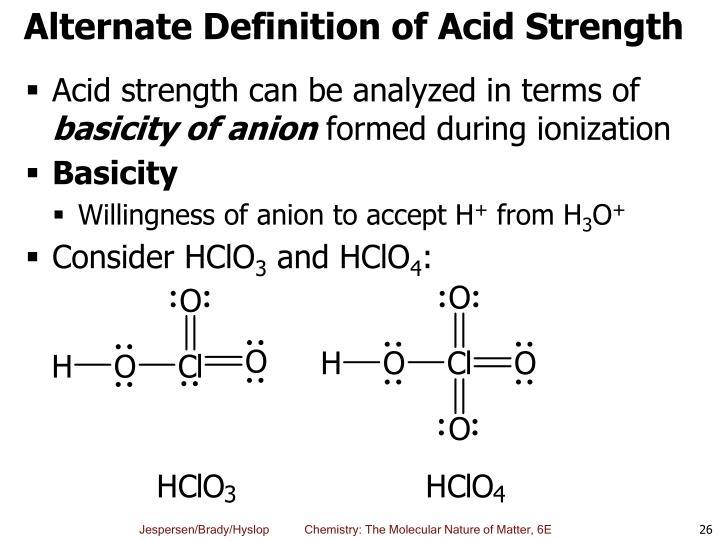 Alternate Definition of Acid Strength