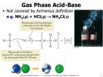 gas phase acid base