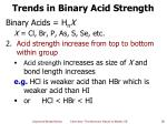 trends in binary acid strength1
