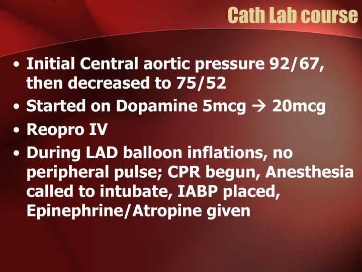 Cath Lab course