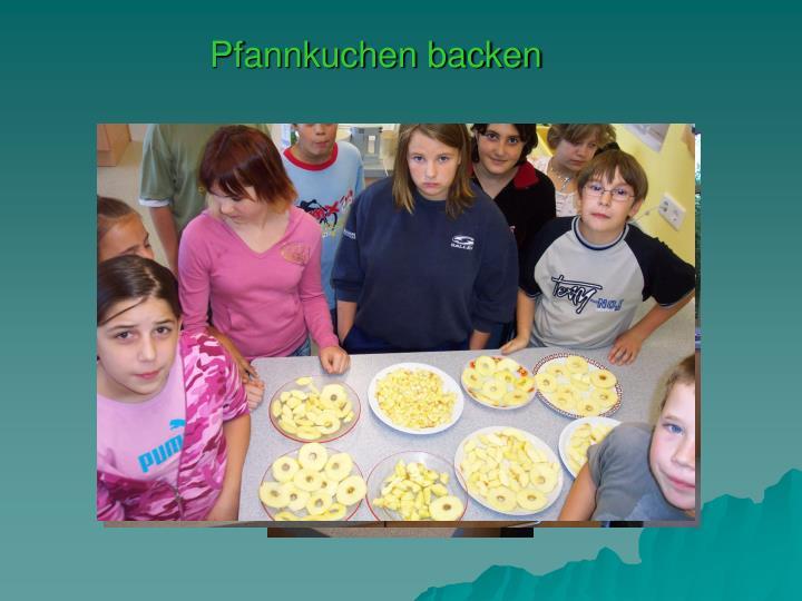 Pfannkuchen backen