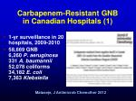 carbapenem resistant gnb in canadian hospitals 1