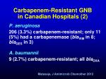 carbapenem resistant gnb in canadian hospitals 2
