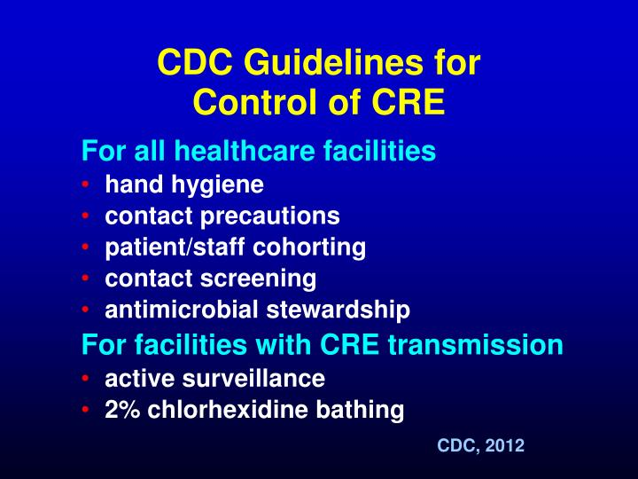 CDC Guidelines for