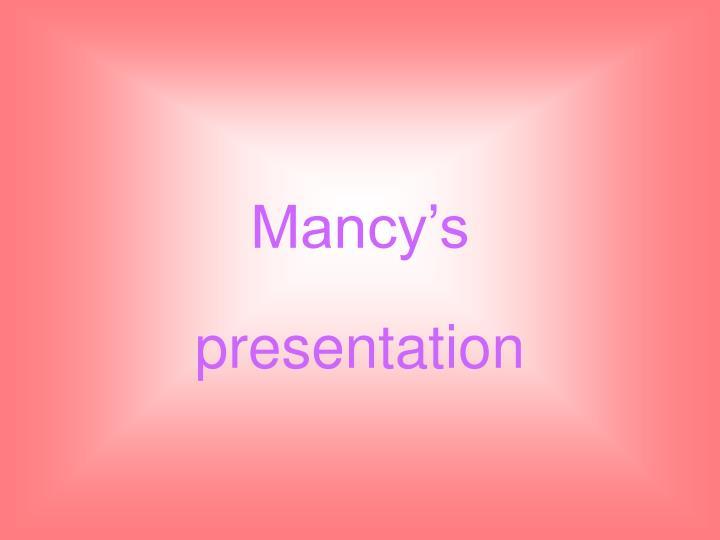 mancy s