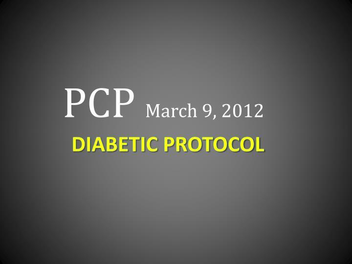 pcp march 9 2012