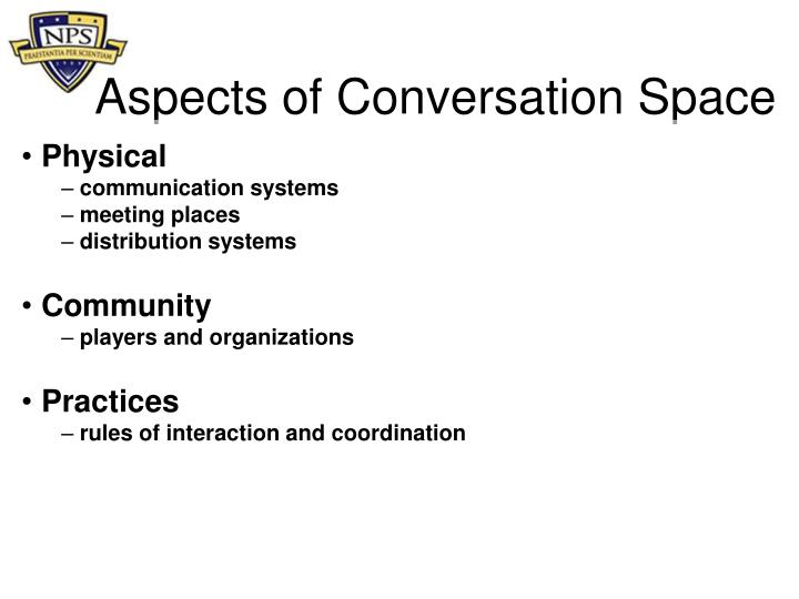 Aspects of Conversation Space