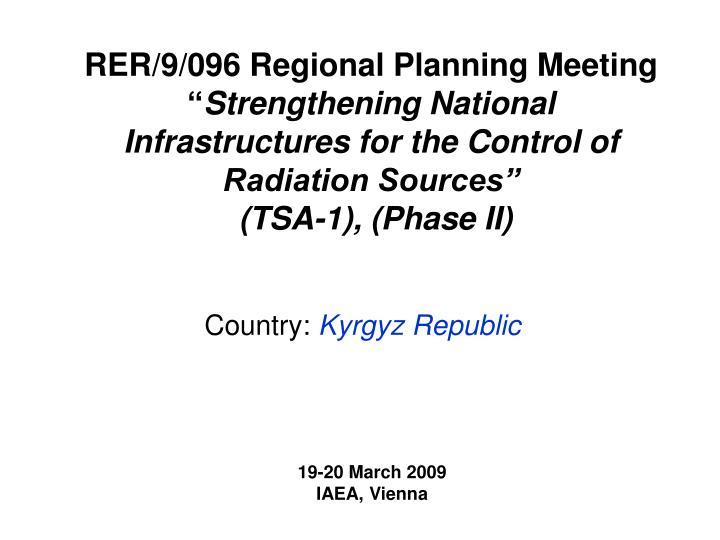RER/9/096 Regional Planning Meeting