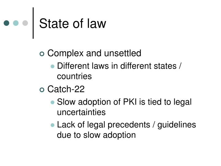 State of law