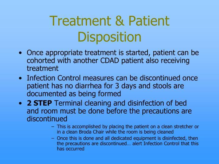 Treatment & Patient Disposition