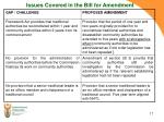 issues covered in the bill for amendment1