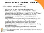 national house of traditional leaders bill cont