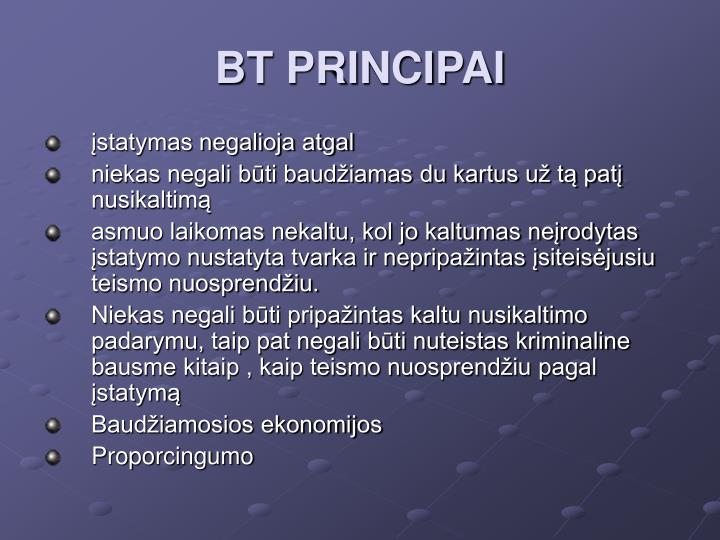 BT PRINCIPAI