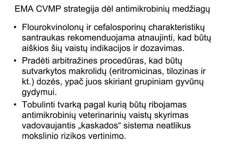 EMA CVMP strategija dėl antimikrobinių medžiagų