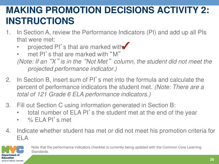 MAKING PROMOTION DECISIONS ACTIVITY 2: INSTRUCTIONS