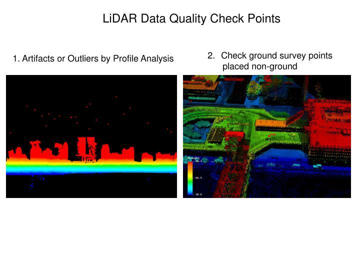 LiDAR Data Quality Check Points