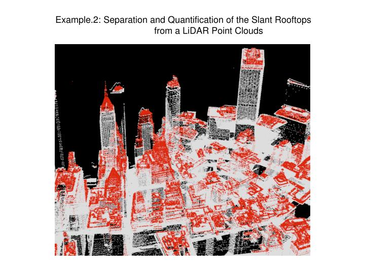 Example.2: Separation and Quantification of the Slant Rooftops
