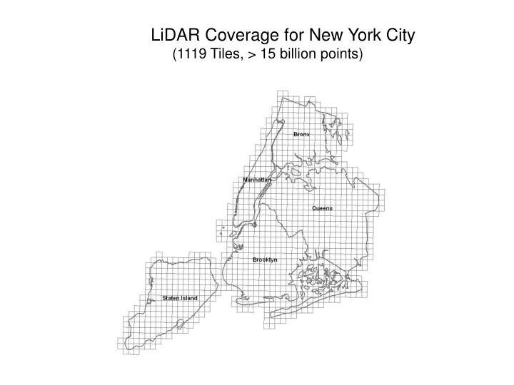 LiDAR Coverage for New York City