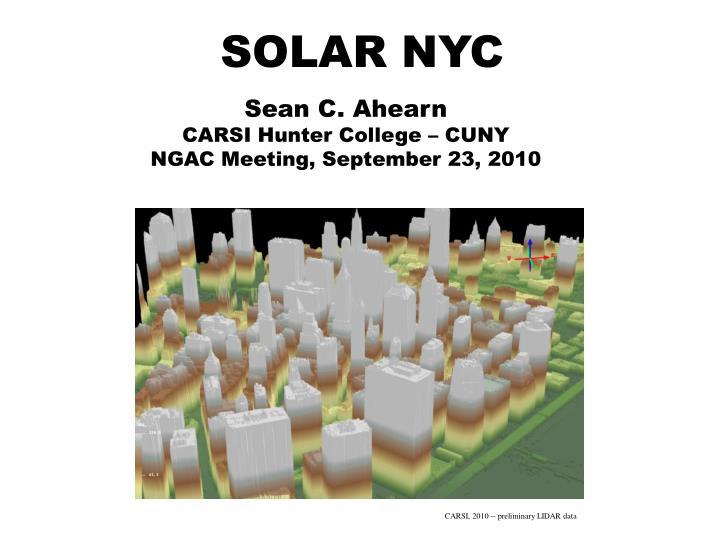 SOLAR NYC