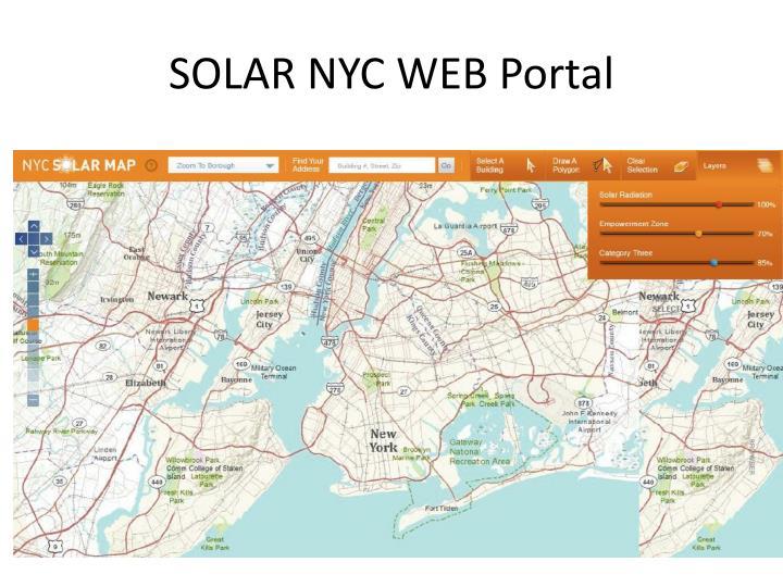 SOLAR NYC WEB Portal