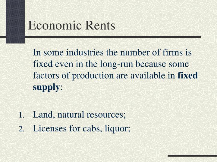 Economic Rents