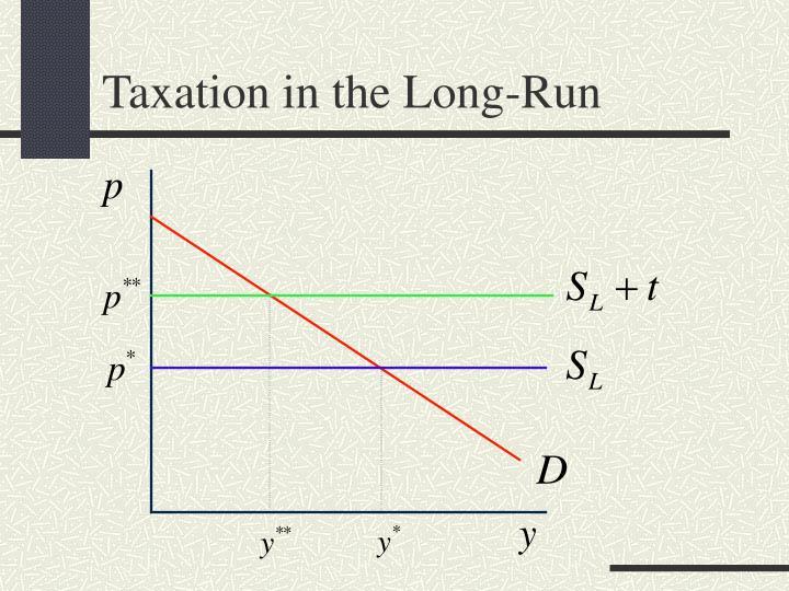 Taxation in the Long-Run