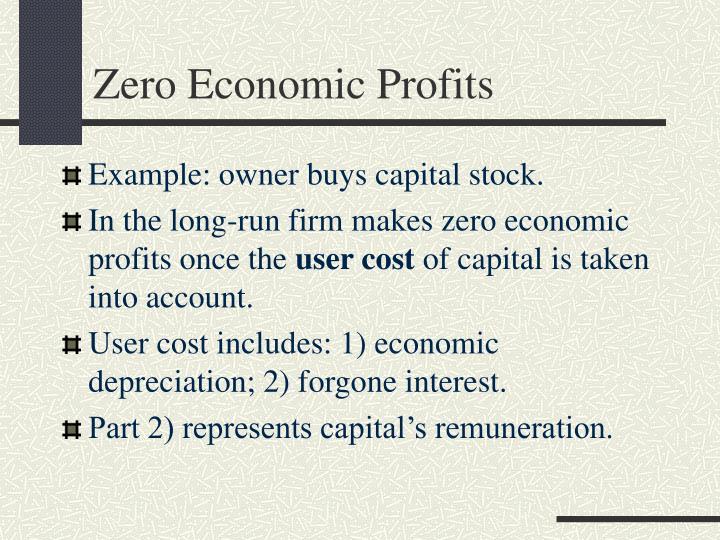 Zero Economic Profits