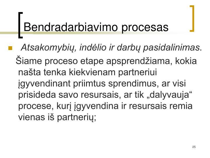 Bendradarbiavimo procesas